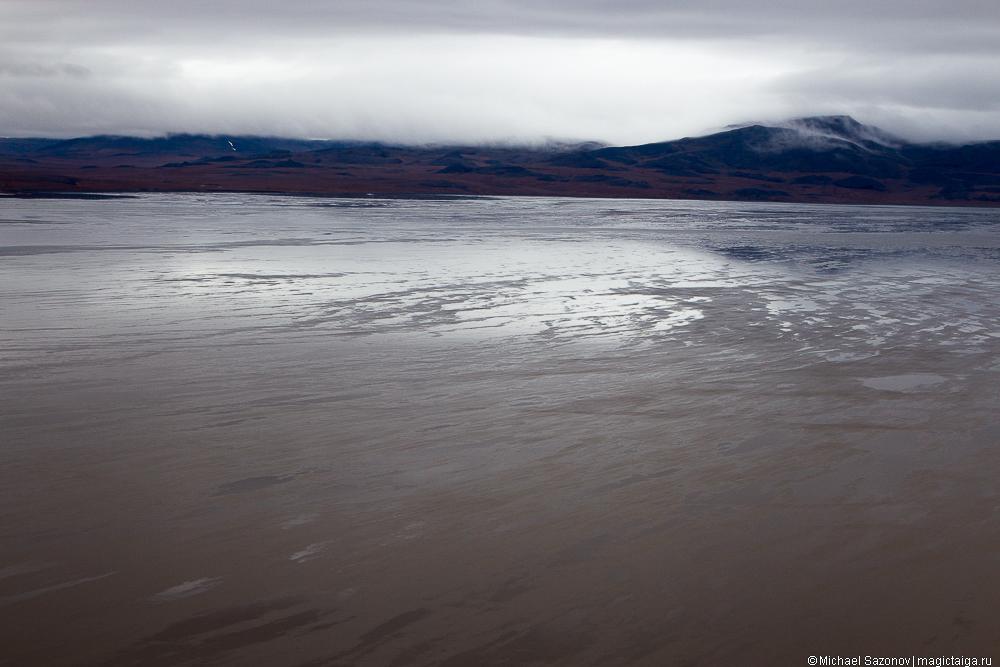 отмели озера Таймыр